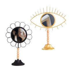Декоративные металлические зеркала классические металлические декоративные зеркала заднего вида таблицы для отображения таблицы