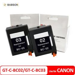 Canon compatible gt-C-BC02 GT-C-BC03 BC02 BC03 Cartouche d'encre pour Canon BJ 100 200 200e 200ex 230 bjc 150 210 210et 220 240 250 251 255 255 SP 265 SP 1000 1000SP