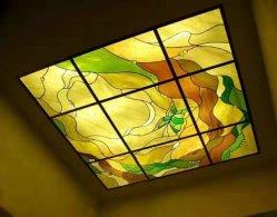 Diseño personalizado Tiffany manchadas Leadlight claraboya del techo de vidrio para decoración