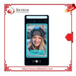 Écran tactile 8 pouces de l'appareil de reconnaissance de visage avec un thermomètre à infrarouge et em/lecteur RFID MIFARE, systèmes de contrôle d'accès
