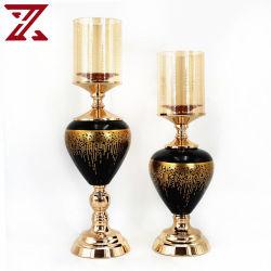 Direto da fábrica castiçal criativo design retro com tampa transparente de vidro suporte para velas para decoração de casamento de terceiros