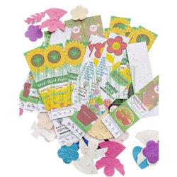 Ecoのシードが付いている友好的なPlantableシードのペーパーブックマーク