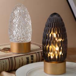 유럽 및 미국 윈드 크로스 국경 LED 배터리 램프 데스크탑 실내장식 개별 침실 홈 가구 유리 야외 테이블 램프