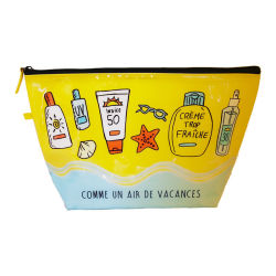 PVC sac cosmétique avec isolation en se fondant sur l'impression CMJN