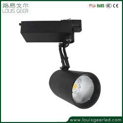2020 proyecto europeo liderado por la luz de la luz de la pista LED 35W, 1/2/3, Cable Vía las luces, el controlador de LED incorporado de la luz de seguimiento de la cabeza para cadenas de tiendas