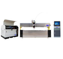 3D Waterjet snijmachine Pmt50he-4020-5xac dynamisch XD water Jet Cutter apparatuur 45 graden snijden voor keramische stenen metalen platen