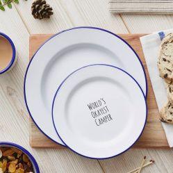 대중음식점을%s 2020의 베스트셀러 고전적인 최신 디자인 18cm-26cm 까만 변죽 꽃에 의하여 인쇄되는 다채로운 타원형 둥근 사기질 금속 장식적인 주석 수프 접시