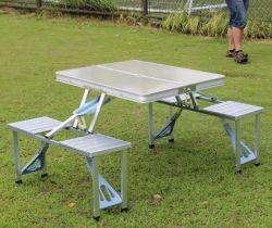 طاولة قابلة للطي بلاستيكية مستديرة ومحمولة HDPE