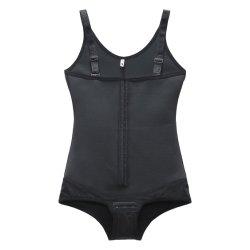 La mujer Body Shaper Barriga Latex Bodysuit Control de elevación de cadera abrir la entrepierna en la cintura formador