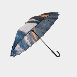 Un panneau plein de l'impression logo personnalisé 2020 Parapluie en une seule pièce droite