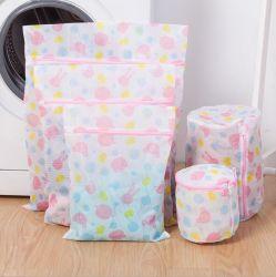 Вышитый печать полиэстер прачечная сетка стеклоомыватели Net пряжи ткани пакет с молнией для Bra/нижнее белье
