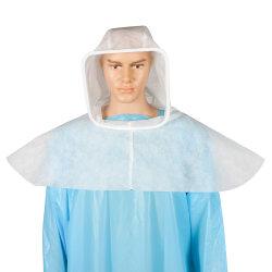 Piscina Vestuário de protecção da respiração a blindagem do capô à prova de branco não tecidos descartáveis não esterilizadas Tampas do Capô para o Hospital Cirúrgico e a Clínica