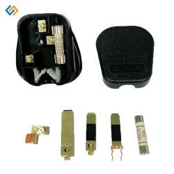 Cobre personalizado hoja recta de acero Conectores eléctricos de potencia de estampación de piezas de sujeción de piezas de perforación de presionar el tapón con niquelados