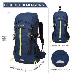 50litres unisexe sac à dos Sac de randonnée ultra-léger avec résistance de l'eau pour les voyages en nylon, randonnée, camping, Treeking