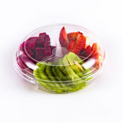 La nourriture jetables en plastique transparent transparent bol à salade de fruits