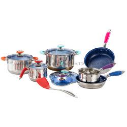 12PCSステンレス鋼の調理器具の一定の鍋鍋の台所用品の台所機器