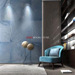 Preço promocional Foshan grossista de Grande Formato de tamanho grande com vidro polido Blue Onyx piso de azulejos de parede de porcelana de mármore em stock