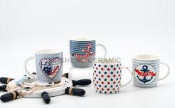 Fördernder neuer Porzellan-Becher mit Abnehmer-Firmenzeichen-Entwurf