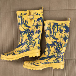 Mix Design Kinder Stock Schuhe Gummi Regen Stiefel Stock (FF1956-1)