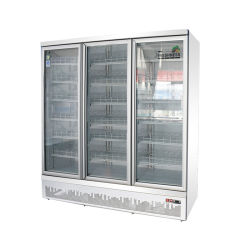 Upright Glass Door Cold Energy Drink Display FridgeのスーパーマーケットCommercial Vertical Plug