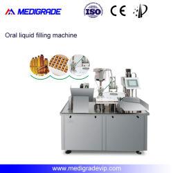 薬剤の機械装置のための自動シロップのびんの液体満ちるキャッピング機械
