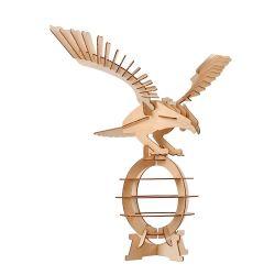 Conjunto de madeira Brinquedos Modelo Eagle, 3D aves do Kit de construção em madeira