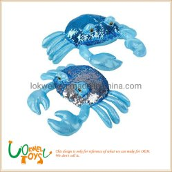 Sequin des jouets en peluche réversible Sequin animal en peluche le crabe