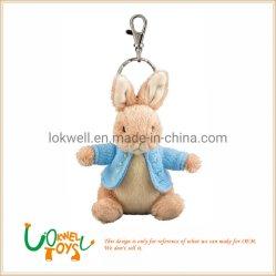 Aangepast Dierlijk Doll van het Konijntje van het Speelgoed van de Baby van Keychain van het Konijntje Pluche Gevuld
