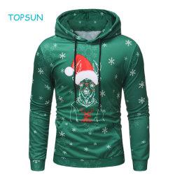 Bovenkant van Kerstmis van de Kleur van de Jongen van de peuter de Groene, Kledingstukken Hoodie van de Koker van Kerstmis van Kerstmis van de Winter van de Herfst van Mensen de Lange Openlucht