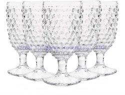 Hobnail Old Fashioned boisson glacée Goblet 13 oz. Jeu de 6, Premium Set de verre de vin, soda et jus de fruit de la crème glacée Goblet tige de verre de tasse mug