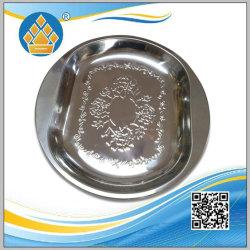 Piatto del cassetto del servizio dell'alimento dell'acciaio inossidabile della fabbrica con colore d'argento
