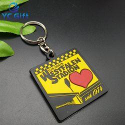 Preiswert Personalisiert Kunststoff Leer Weich-PVC-Schlüsselring Fashion Herz Schlüsselbund 3D-Wärmeübertragung Fancy Souvenir Dekoration Schlüsselhalter mit Logo-Design (KC-P37)