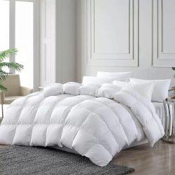 Penas de ganso branco luxuosa roupa de enchimento de retalhos edredão