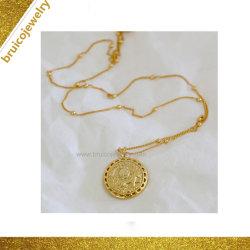 Mode Bijoux Colliers en or jaune 18K de l'Imitation du hip-hop 925 Sterling Silver Jewellery Poignée de commande