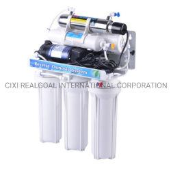 6개의 단계 역삼투 급수 여과기는 UV 램프 살균제 알칼리성 RO 급수 시스템 RO 물 정화기 필터 정화를 추가한다