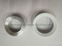 De Mecanizado CNC de aluminio Pieza de repuesto para Downlight LED/ Medio anillo para Downlight LED/anillo de soporte para Downlight LED