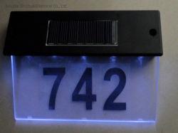 Lumière LED solaire Doorplate House Adresse Nombre de lumière Doorplate en plastique
