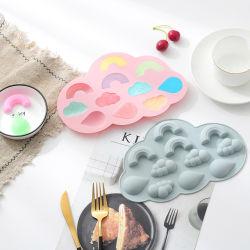 2021 كعكة جديدة رينبو السحابة رينقطرة سيليكون مخصصة للمنتجات الجديدة شوكولاتة قالب الثلج كتلة حلوى بودنغ الثلج