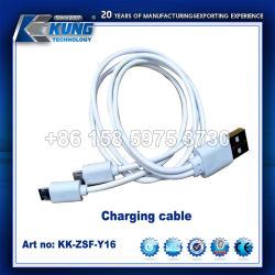 La vente en gros en alliage de zinc acier inoxydable solide connecteur du câble de chargement USB
