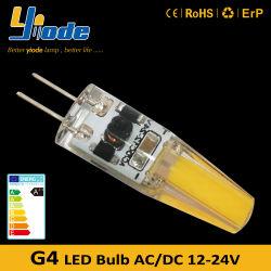 مصباح LED G4 قابل للتخفيف من حالة الإضاءة بقدرة 12 فولت من التيار المستمر، قم باستبدال بـ لمبة هالوجين ذات سن ثنائي بقدرة 12 فولت 20 واط