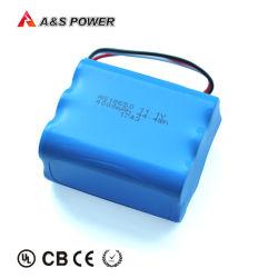 Lithium des Fabrik UL2054 nachladbares Li-Ionbatterie-Satz-3s2p 18650 11.1V 4ah/4000mAh für Solarstraßenlaterne