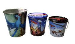 Metallkörbe für Verpackungs-Popcorn, wenig Wanne, Kegel-Becken, Popcorn-Paket, Speicherwanne