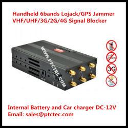 6 Antennen-eingebaute Batterie bewegliches Hand2g/3G/4G/315/433/Lojack Signal-Hemmer-Signal-Blocker