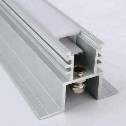 옥외 방수 LED 점화를 위한 단면도를 냄새맡는 IP68 반대로 UV 에서 지상에 의하여 중단되는 지면 알루미늄 선형 LED