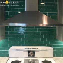 3x6 дюймов/7.5X15см зеленый глянцевой керамической плиткой границы на стене оформление