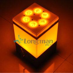 Bateria 9X14W 6 em 1 cores de LED Efeito do carregador de luz para bar