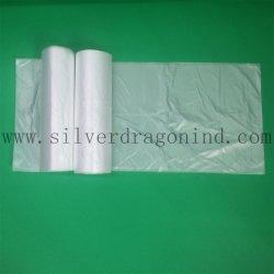 Le PEHD Sacs à ordures en plastique transparent sur le rouleau, sac de la corbeille
