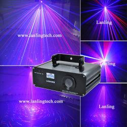 Vermelho e Azul cintilantes Fase Laser Luz efeito