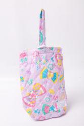 Steppender Nahtdrawstring-Pupille-Schule-Geschenk-Frauen-Dame-Handtaschen-Form-Einkaufen-Baumwollsegeltuchtote-Beutel