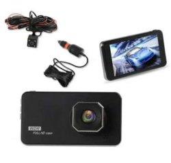 كاميرا Sameuo U750 Dash أمامية وخلفية مزدوجة مدمجة كاميرا DVR للسيارة Wifi عدسة مزدوجة عالية الوضوح بدقة 1080p 24 ساعة مراقبة مسجّل الصوت